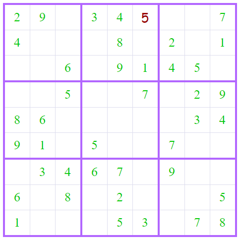 Personalized Sudoku Grid